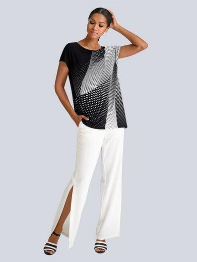 Alba Moda Bluse in asymmetrischer Schnittführung