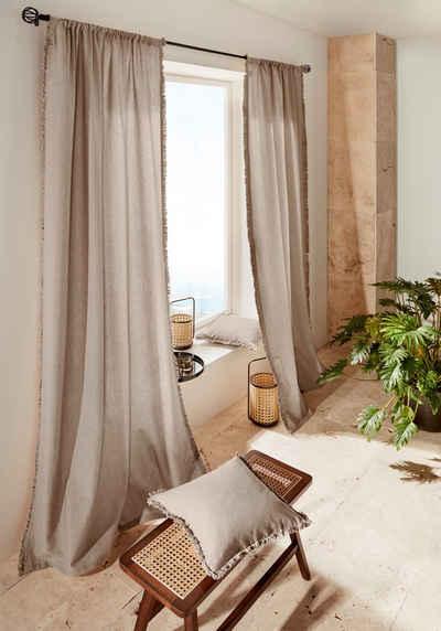 Vorhang »LENI«, LeGer Home by Lena Gercke, Stangendurchzug (1 Stück), Bio-Baumwolle