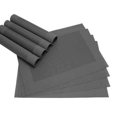 Platzset, »Tischsets BORDA 8 Stk. schwarz Platzsets 46 cm«, matches21 HOME & HOBBY