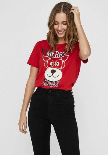 "Vero Moda T-Shirt »VMXMAS OLLY« ""Ugly Shirt"" für Weihnachten"