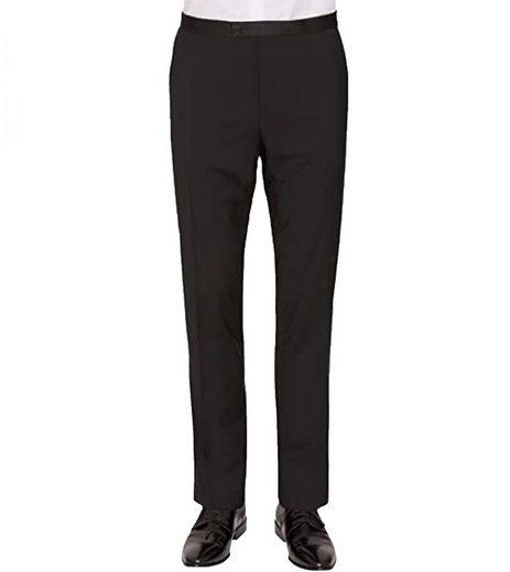 CG Club of Gents Anzughose »CLUB of GENTS Anzug-Hose stylische Herren Business-Hose Jersey-Hose aus Schurwolle Schwarz«