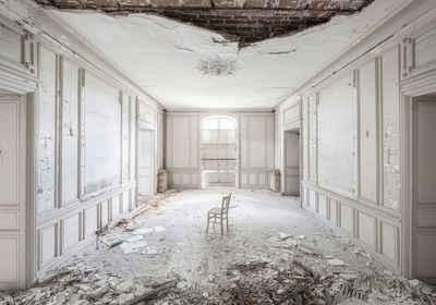 Komar Vliestapete »White Room II«, glatt, bedruckt, Barock, Destroyed-Effekte, (8 St), lichtbeständig und wasserfest