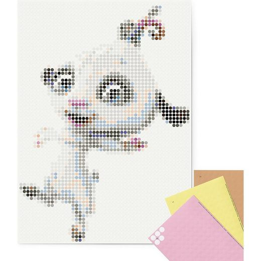 Dot On Malvorlage »dot on art - mia&me - phuddle, 50 x 70 cm«
