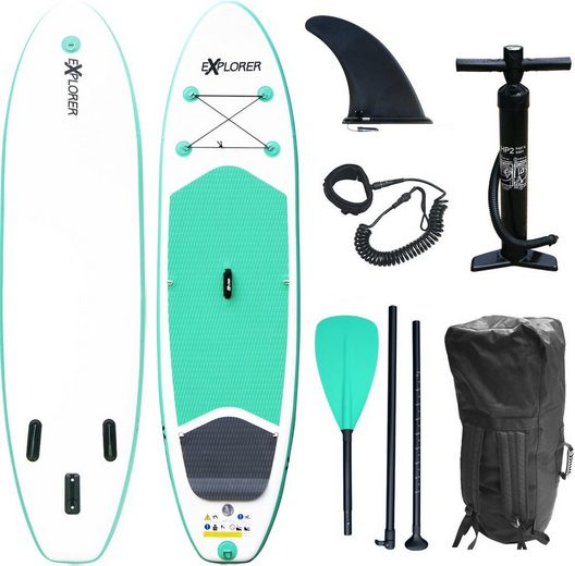 EXPLORER Inflatable SUP-Board »Stand Up Paddleset Explorer 300«, (Set, 6 tlg)