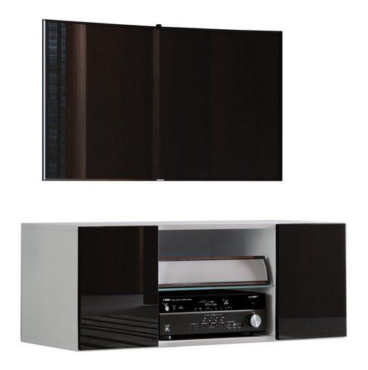 VCM TV-Board »Holz TV Wand Lowboard Fernsehschrank Jusa Hochglanz«