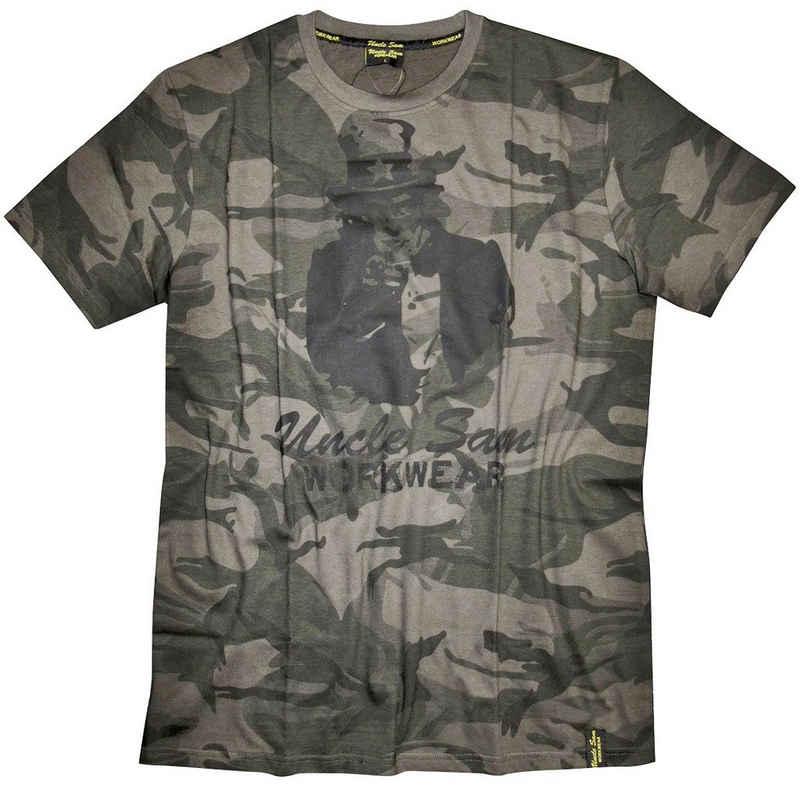 Uncle Sam T-Shirt mit Rundhals