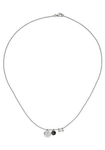 JOBO Collier, 585 Weißgold mit 40 Diamanten 43 cm