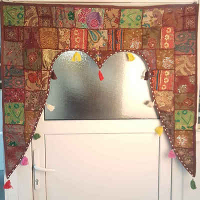 Türvorhang »Indischer Türvorhang Toran 110x100 cm (BxH) Orientalischer Türbehang Patchwork-Design, Vintage Fenstervorhang Boho Ethno Stil«, Casa Moro, (1 Stück), MA6210