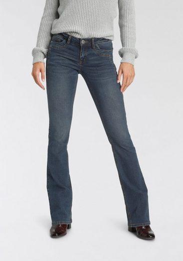 Arizona Bootcut-Jeans »mit Keileinsätzen« Low Waist