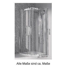 Duschen und Zubehör - welltime Runddusche »Summer«, BxT 90x90 cm, Einscheibensicherheitsglas, barrierefrei einbaubar  - Onlineshop OTTO