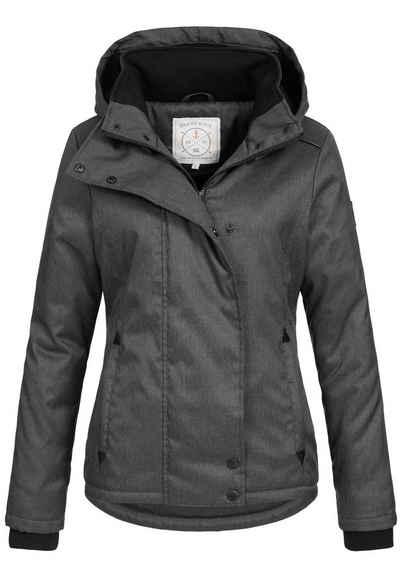 Brave Soul Winterjacke »OM-35« Damen Jacke mit Fleecefutter und Kapuze