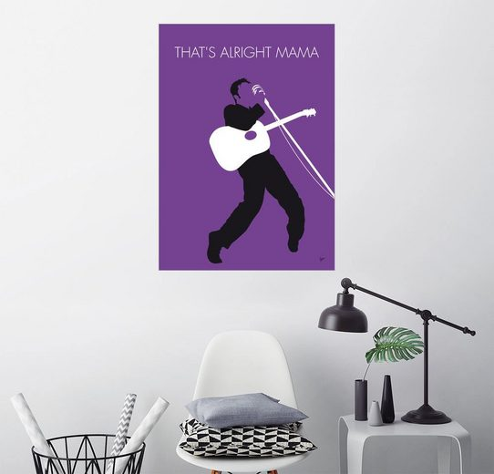Posterlounge Wandbild, Premium-Poster Elvis - That's Alright Mama