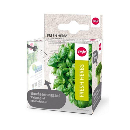 Emsa Kräutertopf »Bewässerungsset für Kräutertopf Fresh Herbs 9-tlg.«