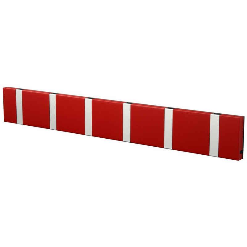 LoCa Garderobe »LoCa Garderobe Knax 6 imperial rot (Haken klappbar Alu)«