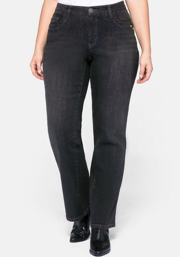 Sheego Bootcut-Jeans VERENA mit Catfaces