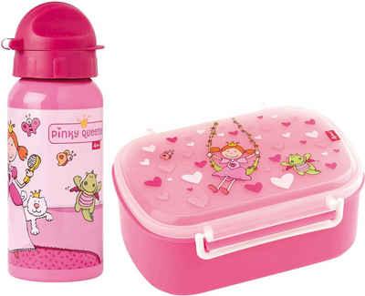 Sigikid Lunchbox »Pinky Queeny«, Polyprophylen (PP), Aluminium, Silikon, (Set, 2-tlg), mit Trinkflasche