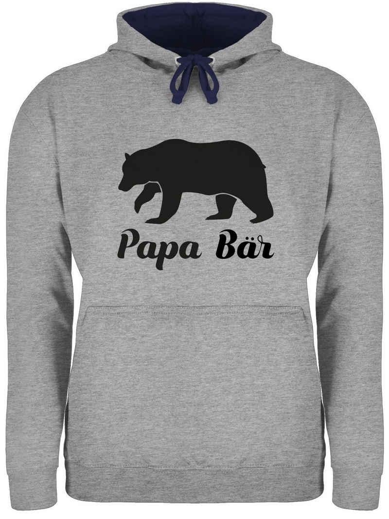 Shirtracer Hoodie »Papa Bär - Papa und Vater Geschenk - Unisex Damen & Herren Kontrast Hoodie« Vatertag Geschenke für Männer