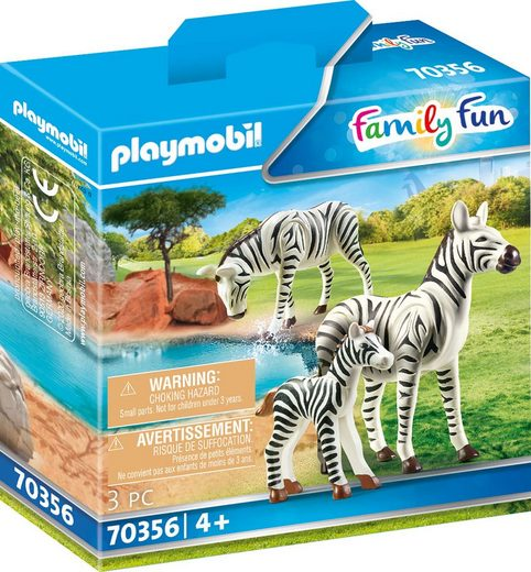 Playmobil® Konstruktions-Spielset »2 Zebras mit Baby (70356), Family Fun«, Made in Europe