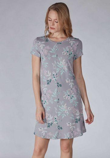 Skiny Sleepshirt mit kurzem Armund Blumen-Print »Roots Sleep«