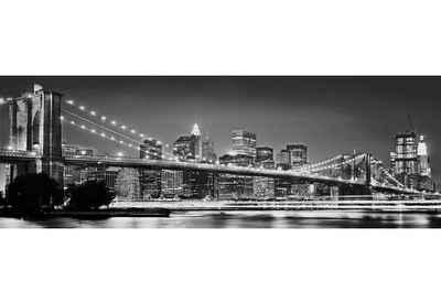 Komar Fototapete »Brooklyn Bridge«, glatt, bedruckt, Stadt, Kunst, (Set), ausgezeichnet lichtbeständig