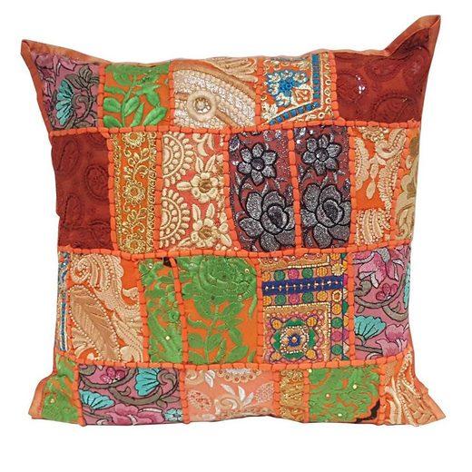 Casa Moro Dekokissen »Orientalisches Patchwork Kissen Mar 40x40 cm aus Baumwolle inklusive Füllung, Vintage Zierkissen Boho Couchkissen Sofakissen«, MA8803