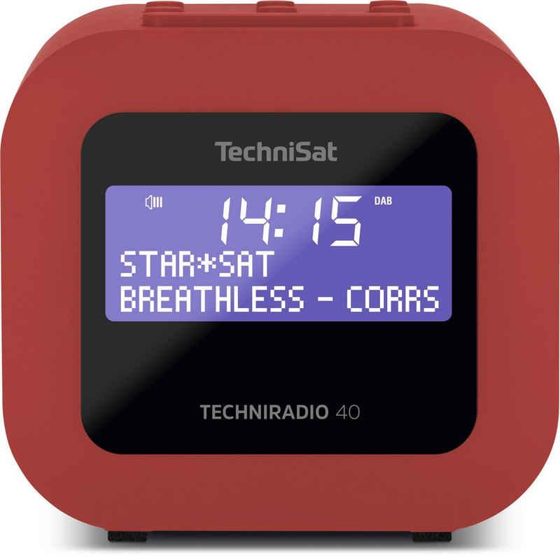 TechniSat »TECHNIRADIO 40« Radiowecker (Digitalradio (DAB), UKW, 1 W, DAB+ Digitalradio, UKW-Radio (mit RDS und PLL), Zwei Radiowecktimer möglich, Einstellbarer Weckrhythmus, USB-Charging)