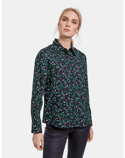 Taifun Langarmbluse »Hemdbluse mit Floral-Print« Bluse