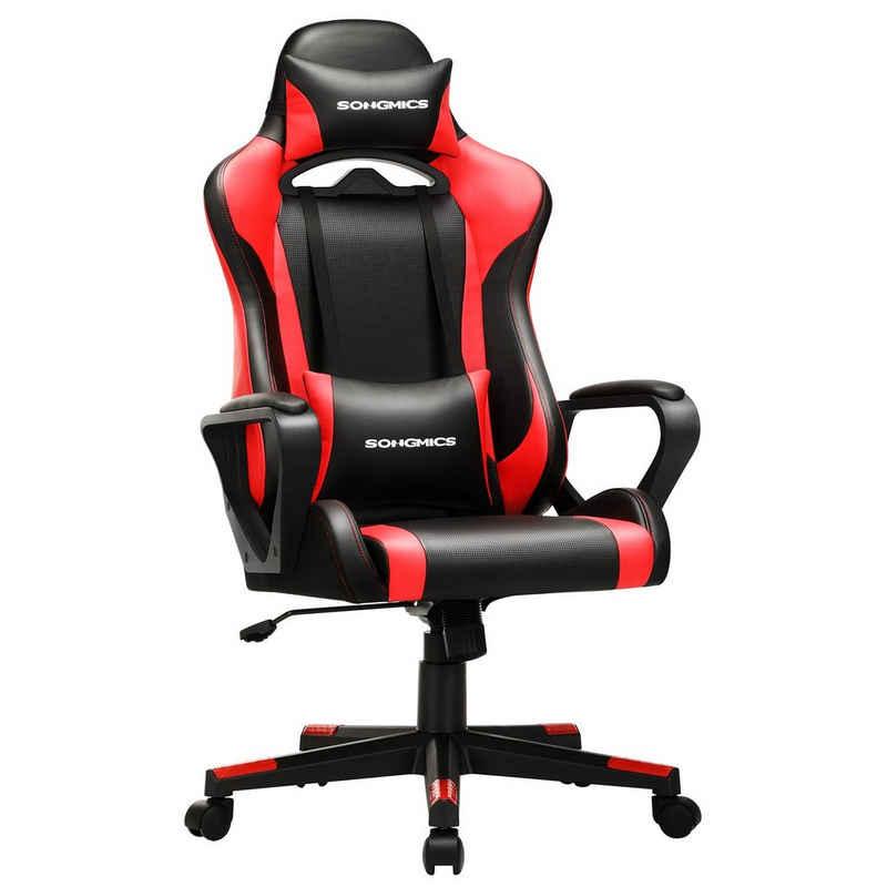 SONGMICS Gaming Chair »RCG011«, Schreibtischstuhl, höhenverstellbar, Wippfunktion,ergonomisch