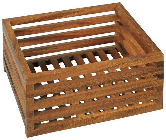 Möve Aufbewahrungsbox »ACACIA«, Gitterbox aus Akazienholz