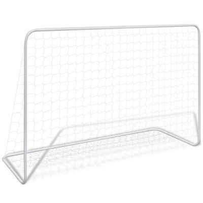 vidaXL Badmintonnetz »vidaXL 1/2x Fußballtor mit Netz Fußballtornetz Fußball Tor 182x61x122cm Stahl«