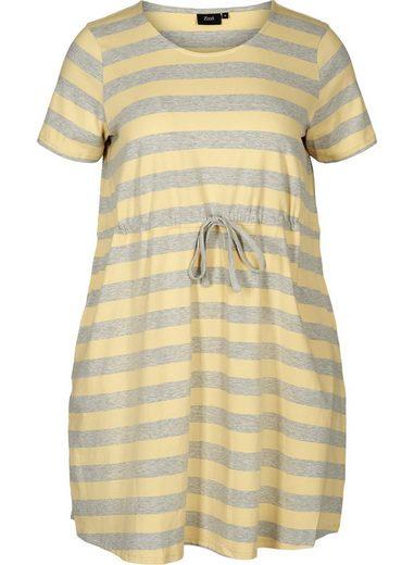 Zizzi Tunika Große Größen Damen Tunika mit Streifen und kurzen Ärmeln
