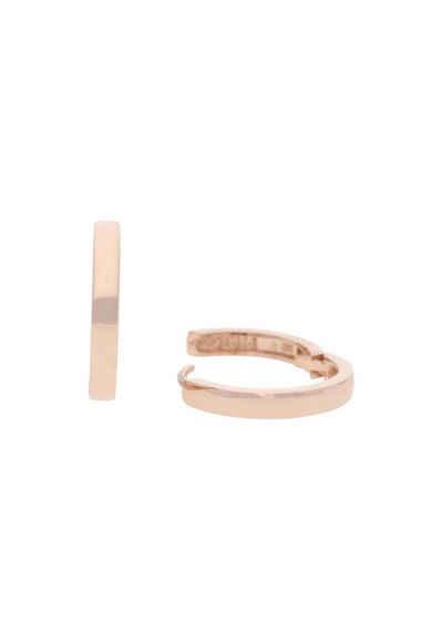 JuwelmaLux Paar Creolen »Creolen Rotgold Ohrringe 16 mm« (2-tlg), Damen Creolen Rotgold 333/000, inkl. Schmuckschachtel