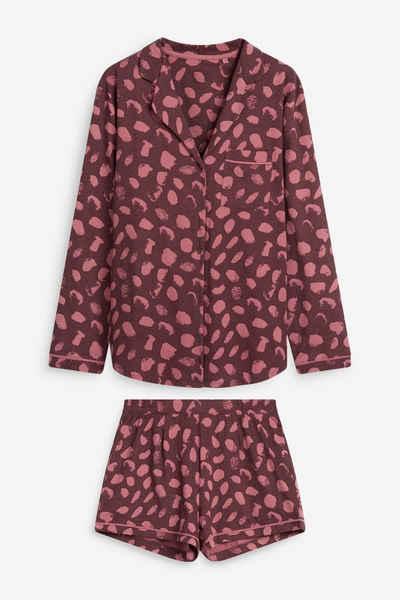Next Pyjama »Pyjama-Set mit geknöpftem Oberteil und Shorts« (2 tlg) Short Set
