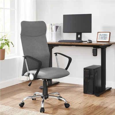 SONGMICS Chefsessel »OBN034G01 OBN034B01«, Bürostuhl, ergonomischer Schreibtischstuhl, Drehstuhl, grau