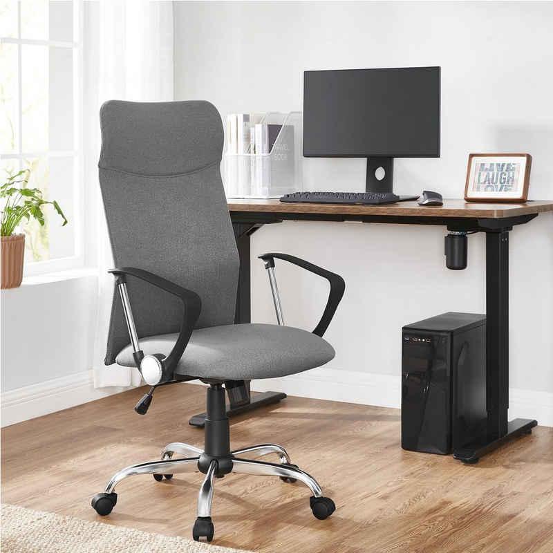 SONGMICS Chefsessel »OBN034«, Bürostuhl, ergonomischer Schreibtischstuhl, Drehstuhl, grau