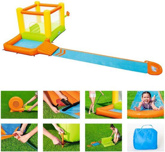 Bestway Planschbecken »H2OGO!™ Wasserpark Splash & Dash«, BxLxH: 300x662x150 cm, mit Dauergebläse