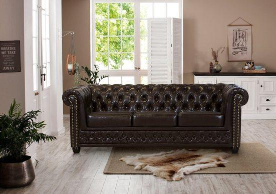 Premium collection by Home affaire 3-Sitzer »Rysum«, Chesterfield-Optik, in 2 Bezugsqualitäten