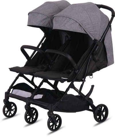 Knorrbaby Zwillingsbuggy »Twin-Easy Fold, Grau«, faltbar; Zwillingskinderwagen; Kinderwagen für Zwillinge; Buggy für Zwillinge; Zwillingswagen