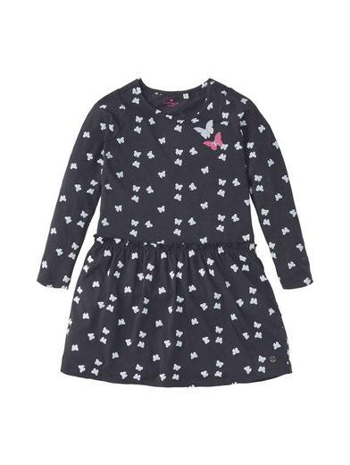 TOM TAILOR A-Linien-Kleid »Gemustertes Kleid mit Applikationen«