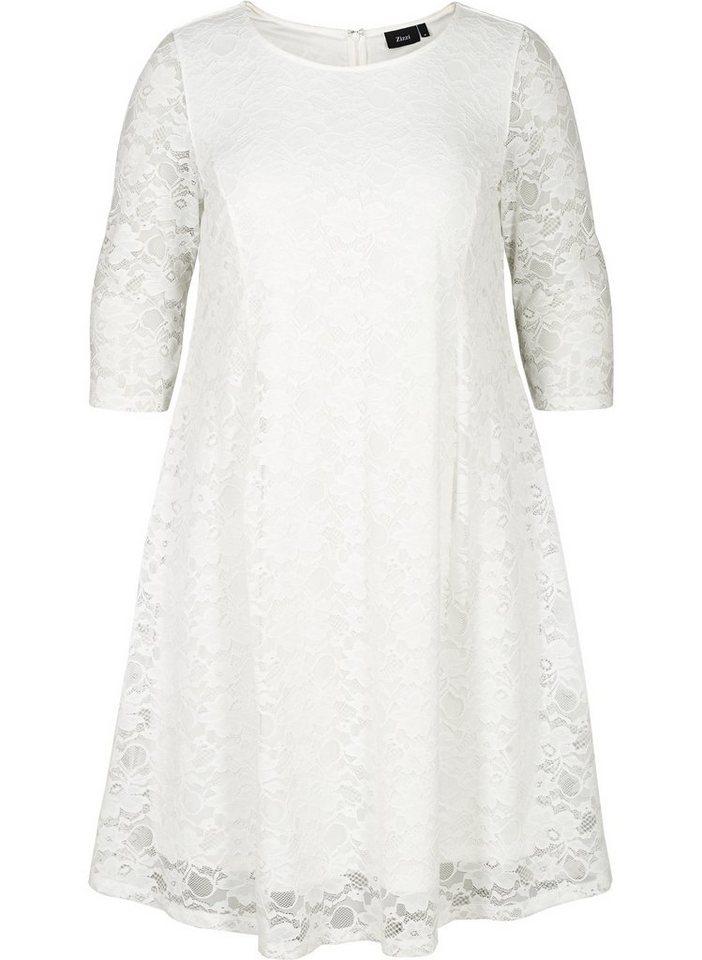 Zizzi Spitzenkleid Große Größen Damen Spitzen Kleid mit 3 ...