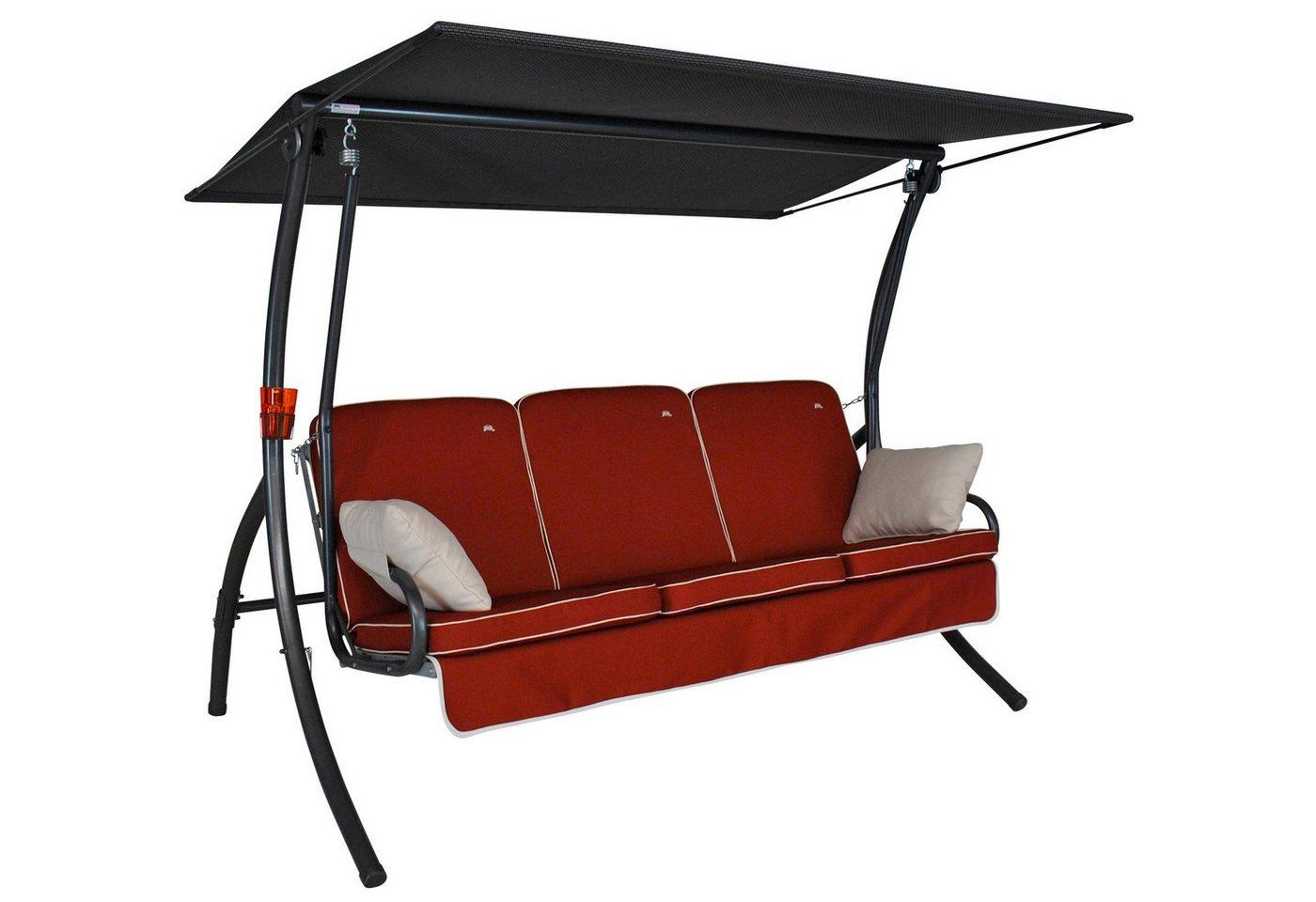 Hollywoodschaukel Metall 3-Sitzer Primero Style*