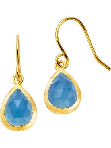 Jamelli Paar Ohrhänger »Jamelli Damen-Ohrhänger 925er Silber 2 Farbstein«