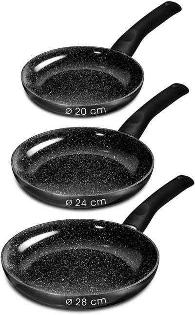 STONELINE Pfannen-Set »CERAMIC«, Aluminium (Set, 3-tlg), Induktion