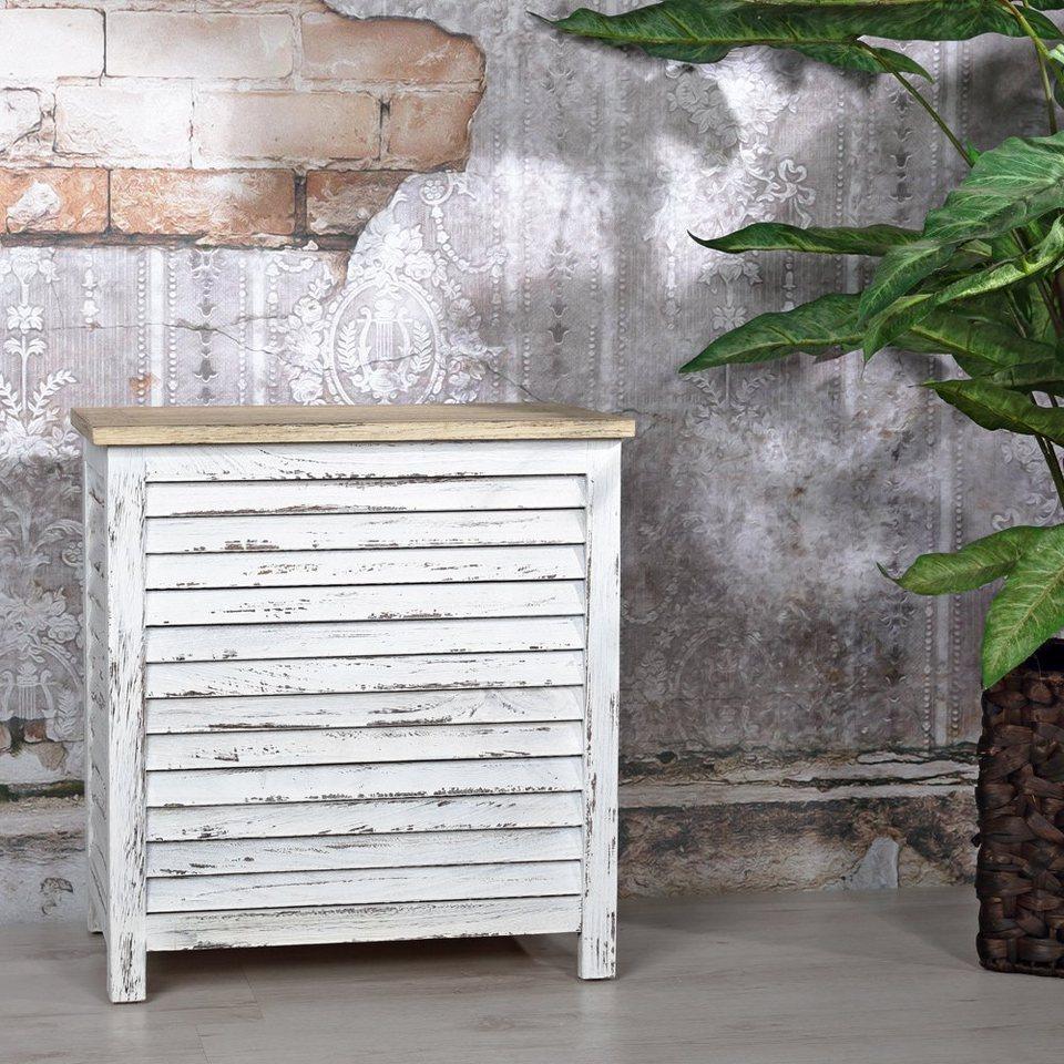 Wäschekorb Wäschebox Wäschesammler Holz NEG Wäschetruhe Anaroa//Babylon braun