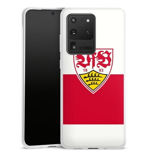 DeinDesign Handyhülle »VfB Stuttgart Brustring« Samsung Galaxy S20 Ultra, Hülle VfB Stuttgart Offizielles Lizenzprodukt Logo