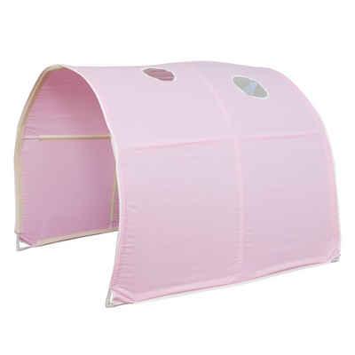 Homestyle4u Betttunnel »Tunnel Bogen Zelt Bettzelt pink Spieltunnel«