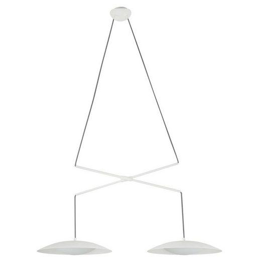 click-licht LED Pendelleuchte »LED Pendelleuchte Slim aus Metall in Weiß 2-flammi«, Hängeleuchte, Pendellampe, Pendelleuchte