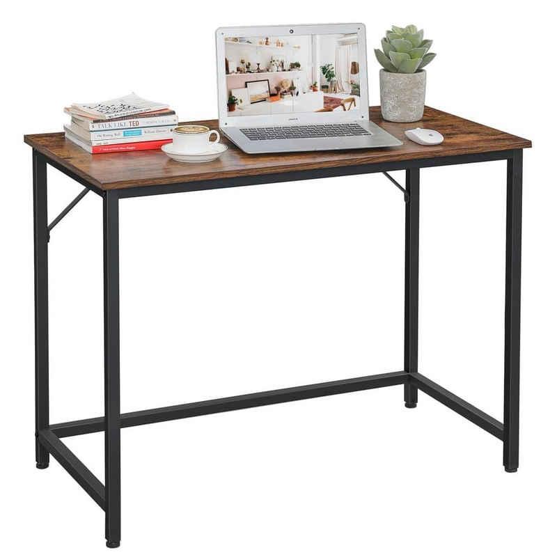 VASAGLE Schreibtisch »LWD41X«, Computertisch, schmaler Bürotisch, 100 x 50 x 75 cm, vintage
