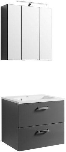 HELD MÖBEL Badmöbel-Set »Ancona«, Breite 60 cm, 2-tlg.