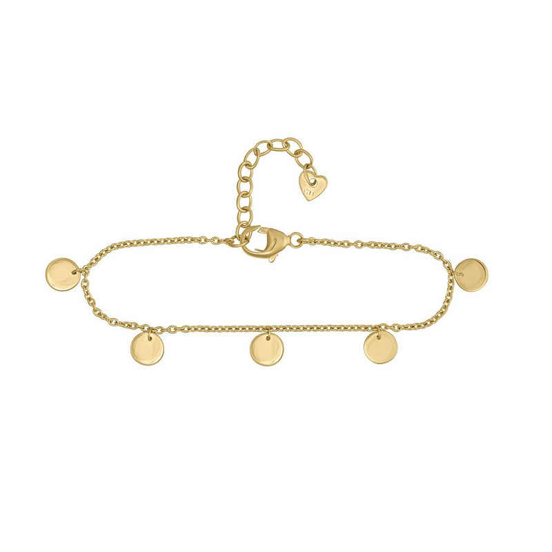 CAÏ Armband »925/- Sterling Silber vergoldet Plättchen Boho«